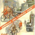 Archivfund: Wer kennt dieses alte Radfahrerposter?
